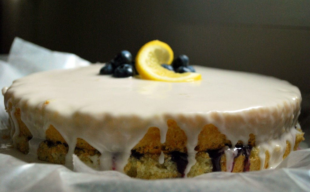 Ahu Eats: Blueberry Curd Cake with Lemon Glaze