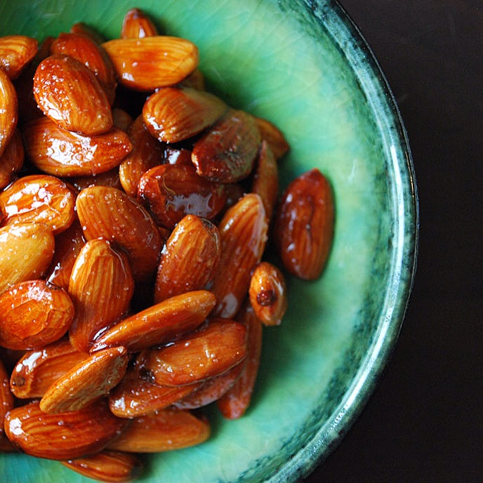 Badoom Limoo Torsh - Persian Style Tangy Almonds Candied in Lime Juice