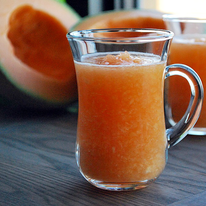 Persian Cantaloupe Smoothie with Rosewater - Ab Talebi