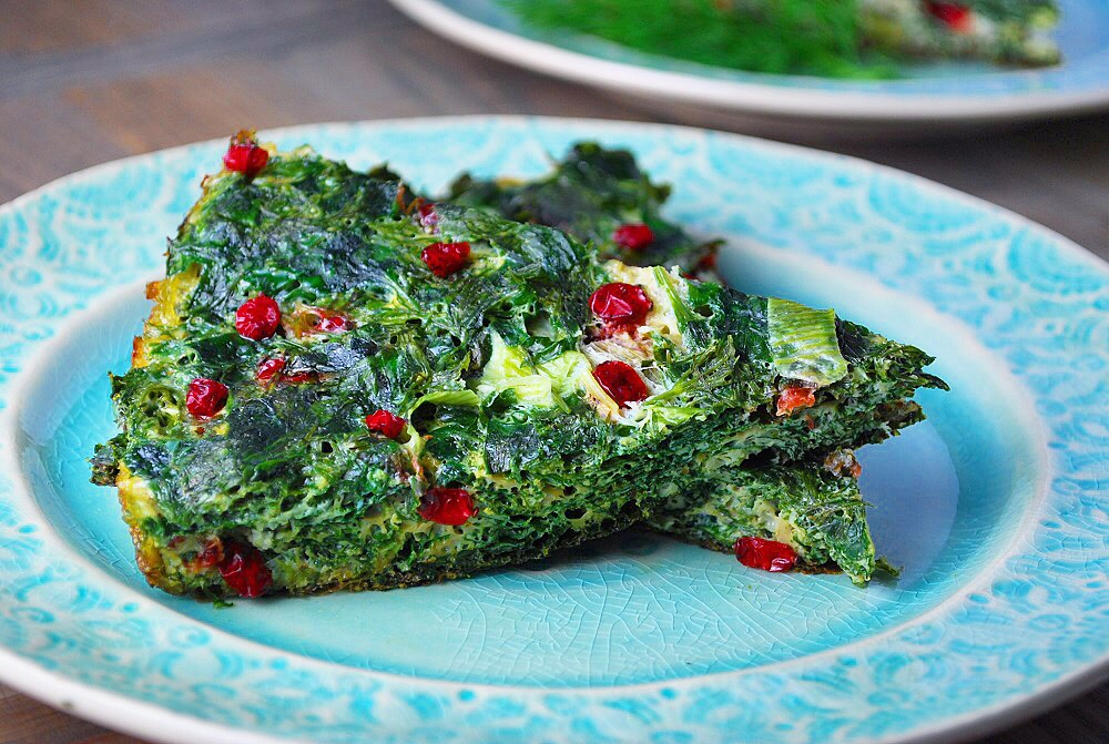 Kuku Sabzi is a Persian Herb Frittata – a delicious vegetarian dish ...
