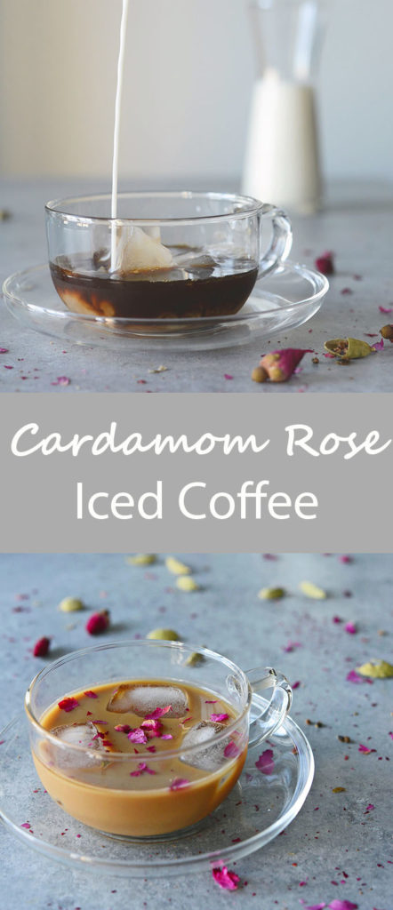 Cardamom Rose Iced Coffee (Persian Coffee) LongPin