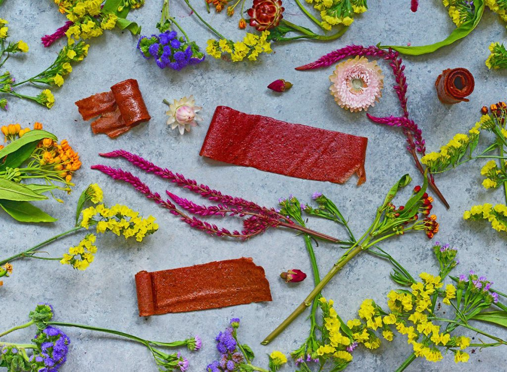 Lavashak, or Persian style fruit leather, is an easy to make snack of dried fruit dried out in your oven! Healthy, tasty and vegan!
